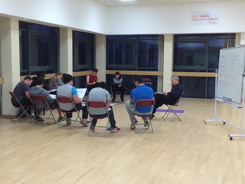 Students on Award in Circuit Training Course in Cardiff